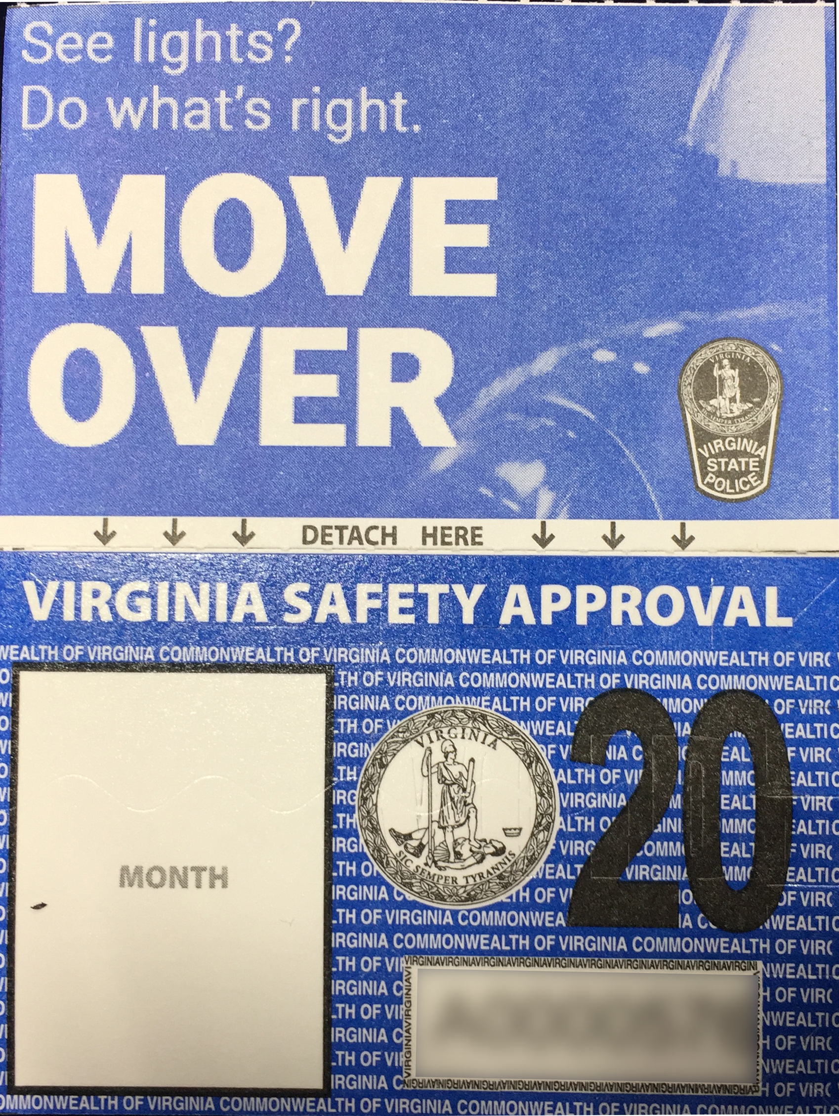 Virginia Vehicle Inspection Stickers Redesigned