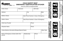 Image result for dmv child safety seat sticker